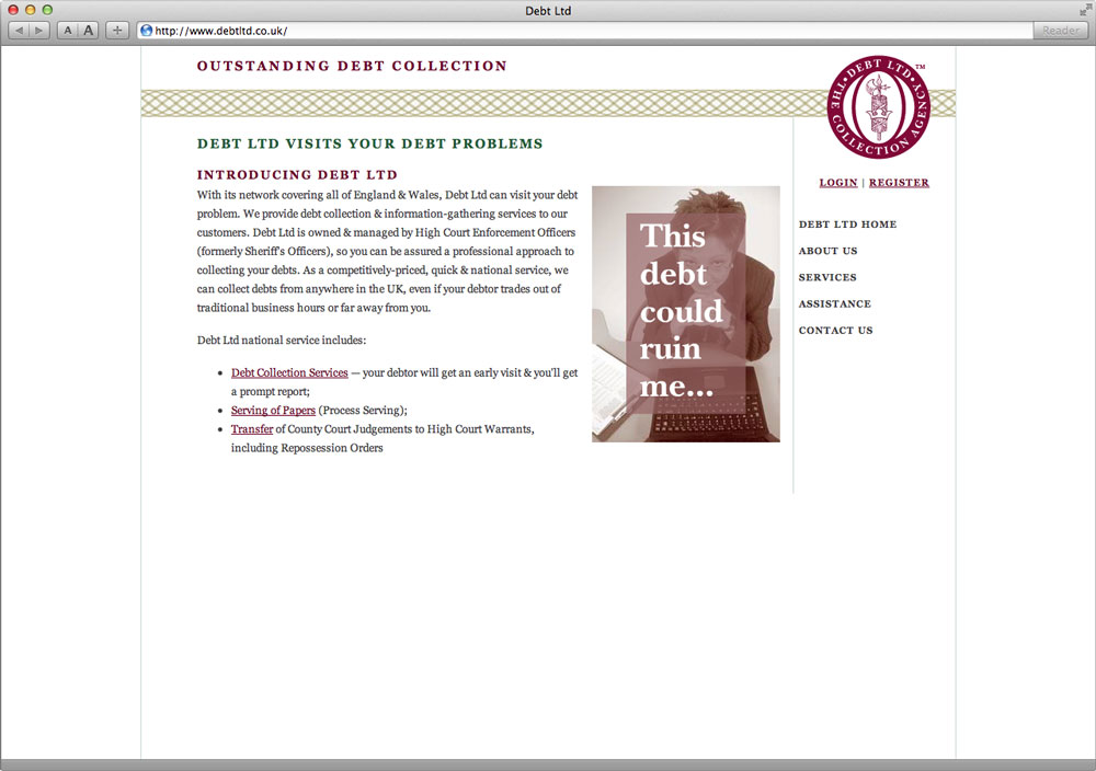 Debt Ltd Website