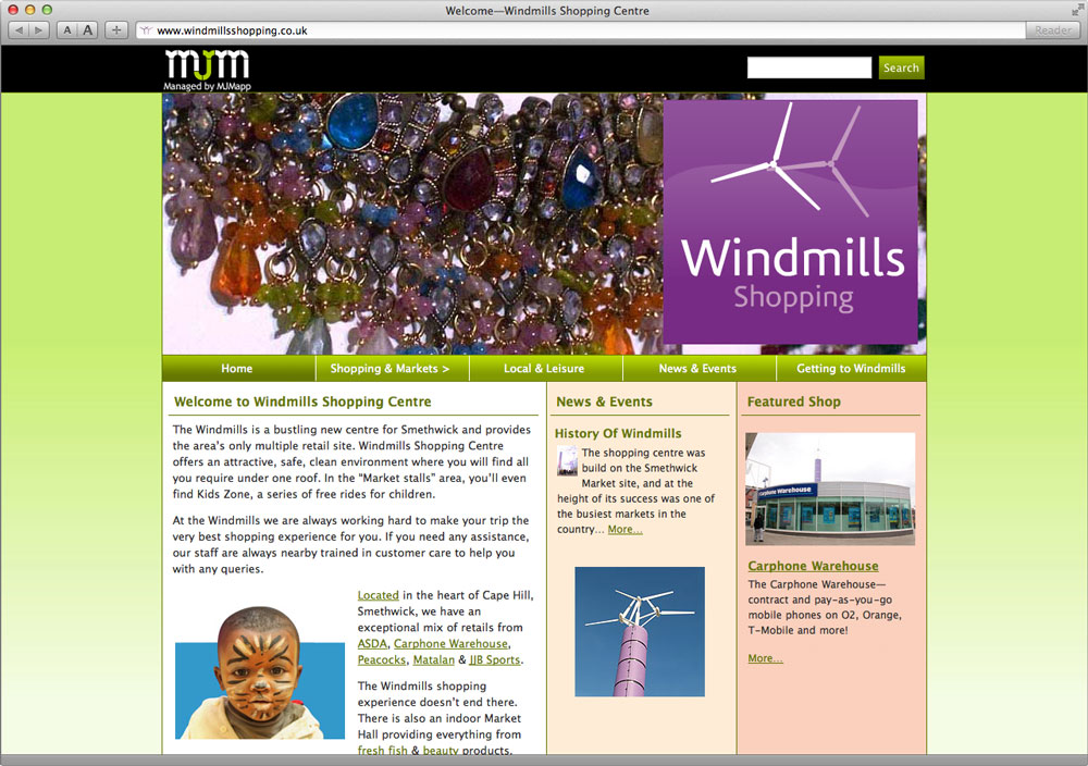 Windmills Shopping Centre Website